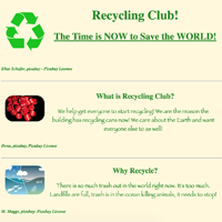 Recycling Sample Page