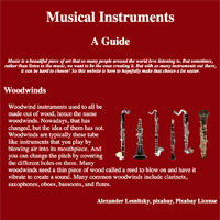 Instrument Sample Page